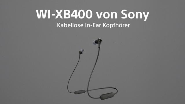 Sony - WI-XB400 Kabellose In-Ear Kopfhörer schwarz Video 3