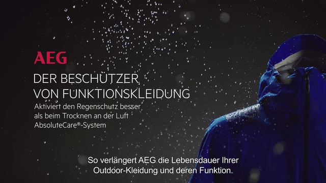 AEG - AbsoluteCare-System - Funktionskleidung Video 19