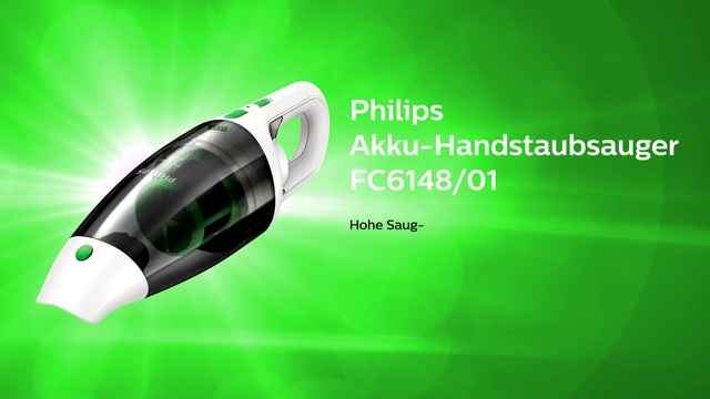 Philips MiniVac Handstaubsauger FC6148/01 Video 3
