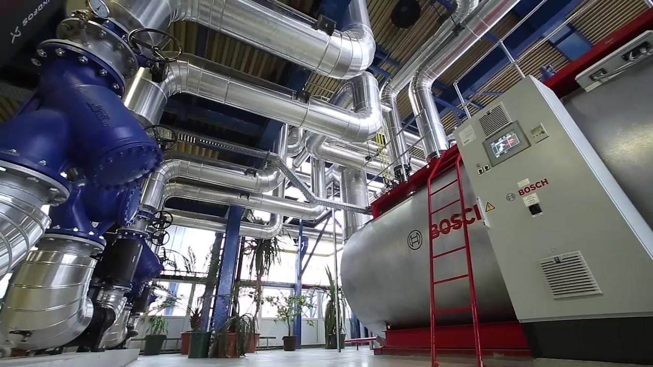 Bosch kazanları Dunakeszi şehrini ısıtıyor