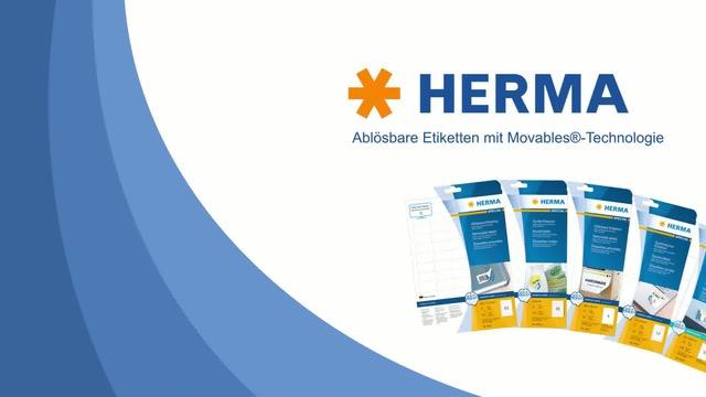 HERMA - Movables ablösbare Etiketten Video 3
