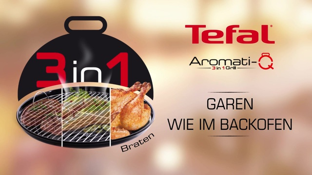 Tefal - Aromati-Q 3in1 Tischgrill (Braten) Video 15