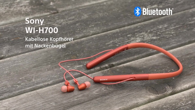 Sony - WI-H700 kabellose Kopfhörer mit Nackenbügel (h.ear Serie) Video 3
